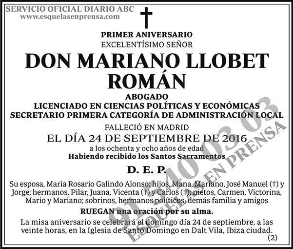 Mariano Llobet Román